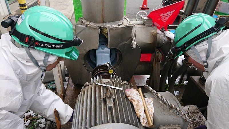 冷凍機冷却塔ポンプ修理(オーバーホール)