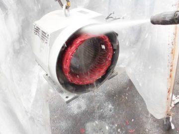 ポンプ用モーターのベアリング交換・コイル洗浄