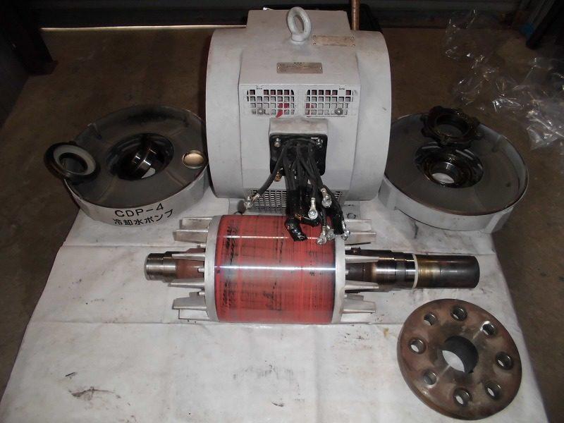 ポンプ駆動用モーター ベアリング交換・コイル洗浄
