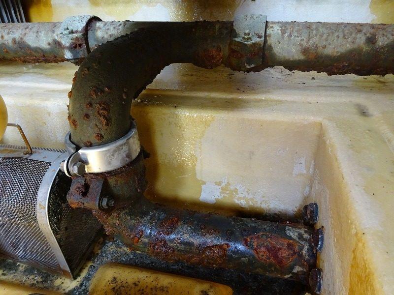 冷却水 送水配管の交換工事
