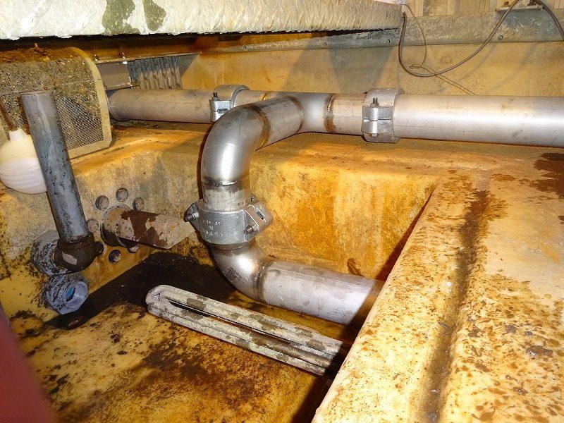 送水配管 特注製作と全面交換工事