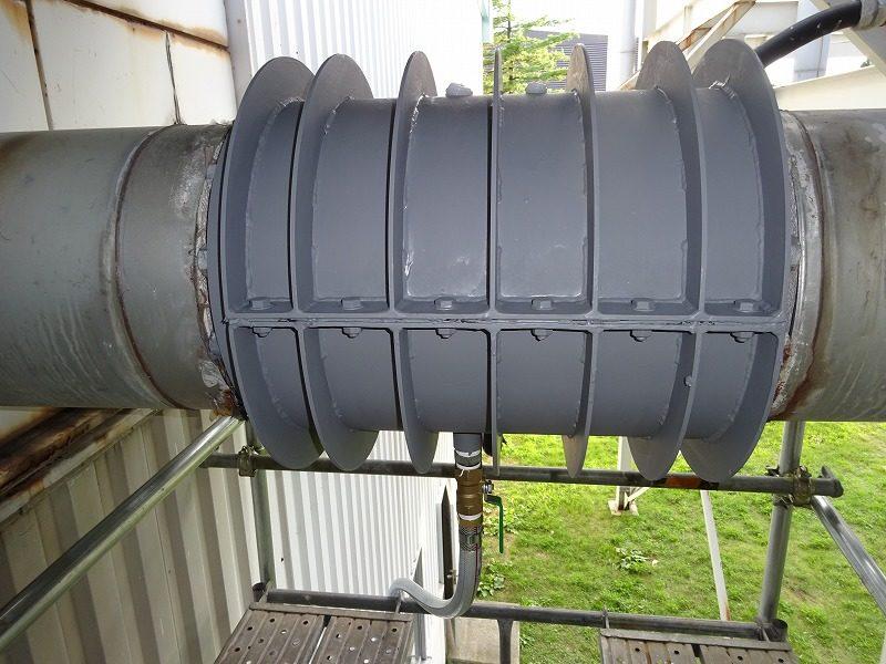 回収水配管の漏水対策補修
