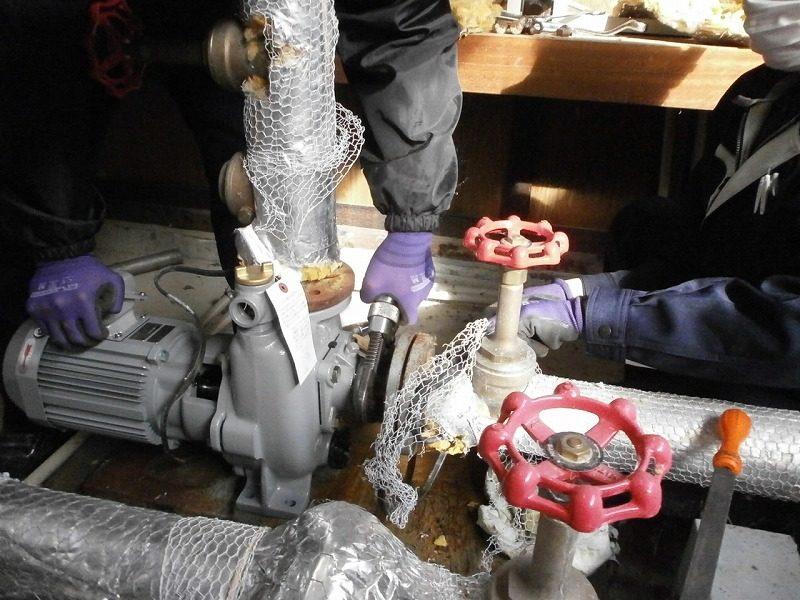 ポンプ更新・据付工事および配管の保温工事 一括代行