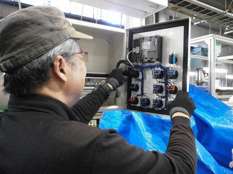 制御盤の改造工事・プログラム変更