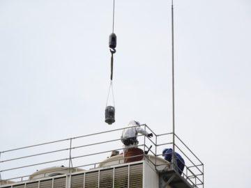 冷却塔用モーターの更新
