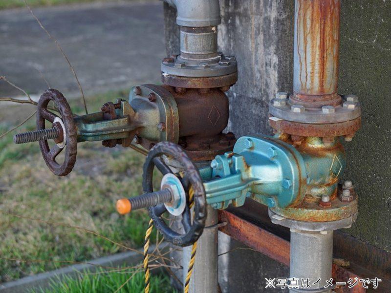 蒸気配管 バルブ・フランジ付き配管交換