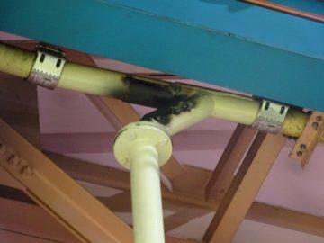集塵配管 交換修理(盛替え)