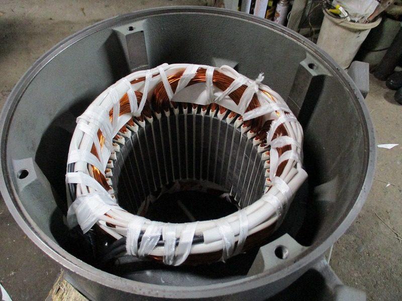 エレベーター用モーター コイルの巻き替え修理