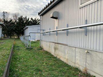 廃液回収配管のヒーター交換とラッキング工事