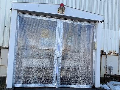 ローリー受入口の塩ビシート張替え工事