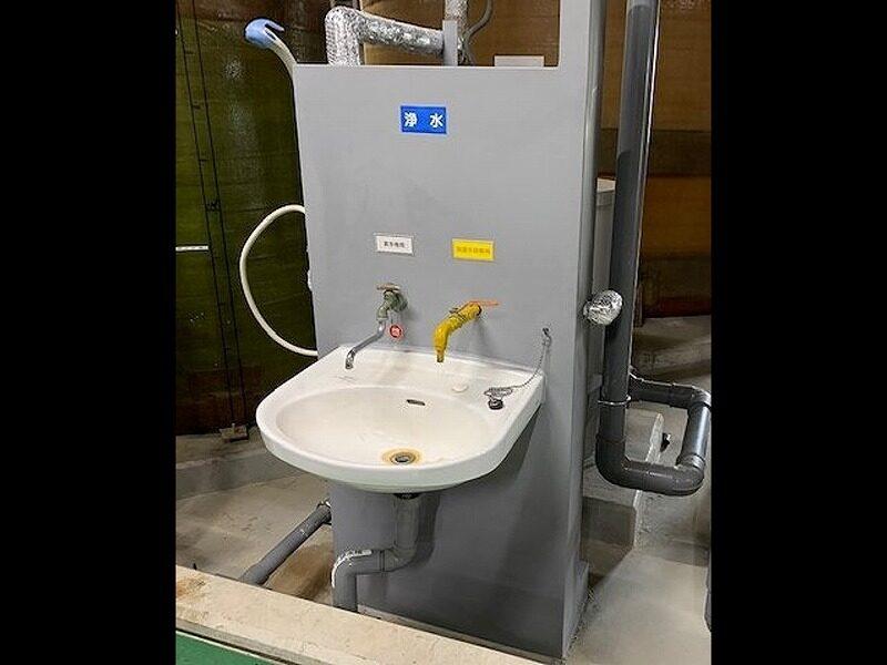 手洗台の修理